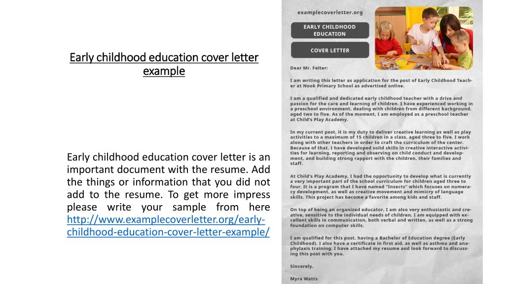 PPT - Early childhood education cover letter example ...