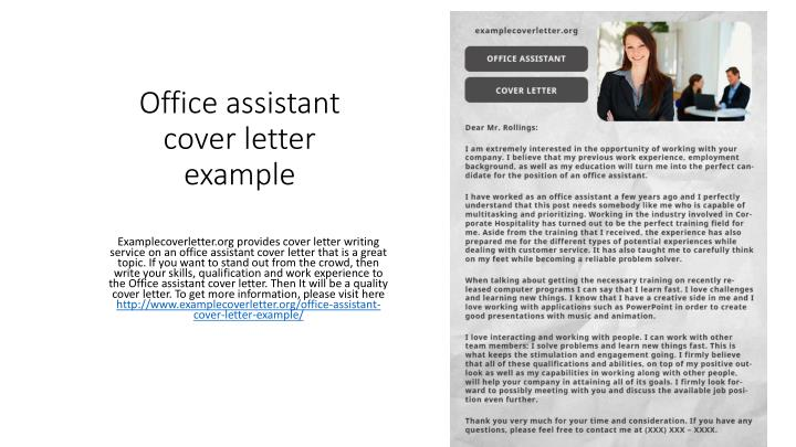 PPT - Office assistant cover letter example PowerPoint ...