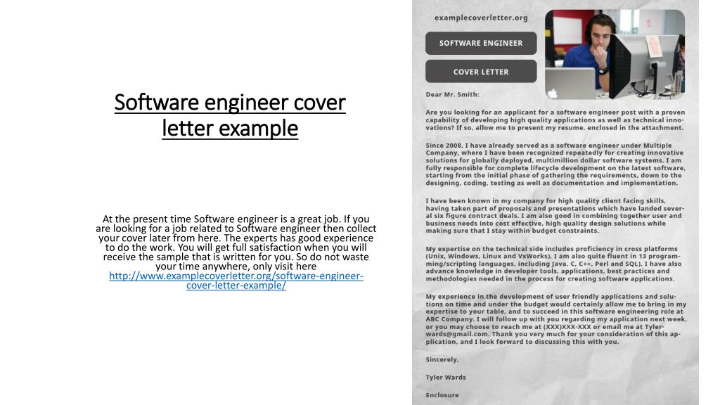 Example Cover Letter Software Engineer from image4.slideserve.com