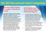 crj 305 educational tutor indigohelp5