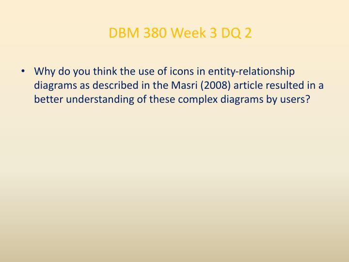 DBM 380 Week 3 DQ 2