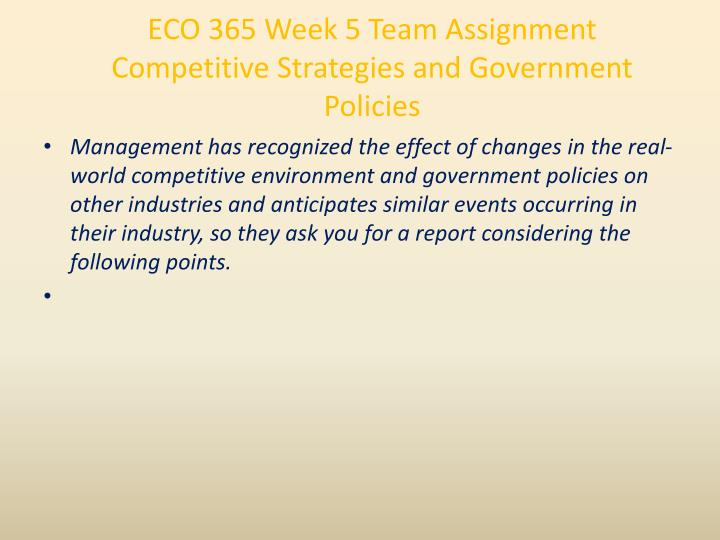 competitive strategies and government policies essay Sustainable competitive advantages are sustainable competitive advantages: definition, types, & examples and government regulations are common impediments to.