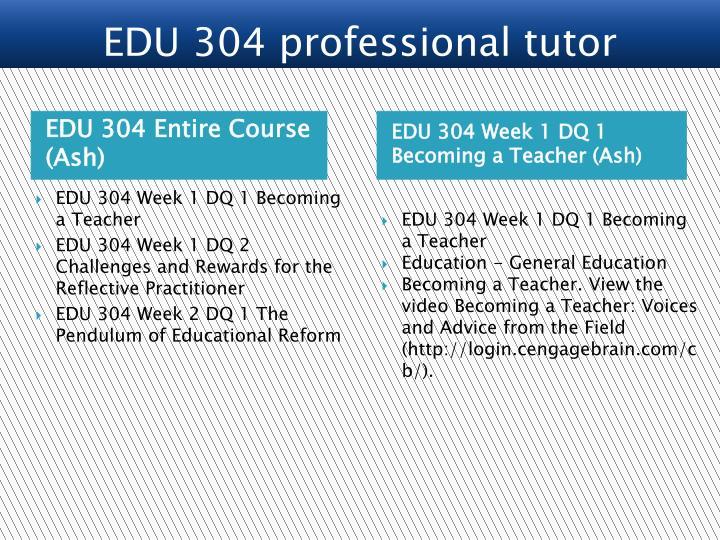 EDU 304 Entire Course (Ash)