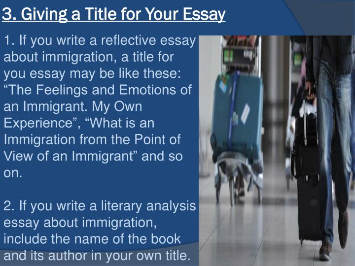 essay about immigration experience