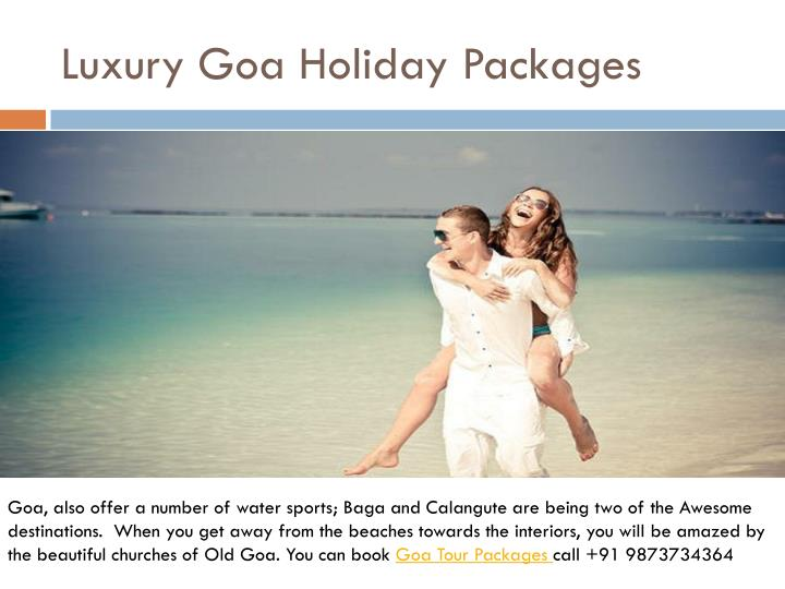 luxury goa holiday packages n.