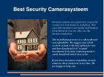 best security camerasysteem
