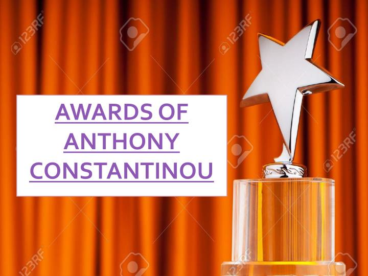 awards of anthony constantinou n.