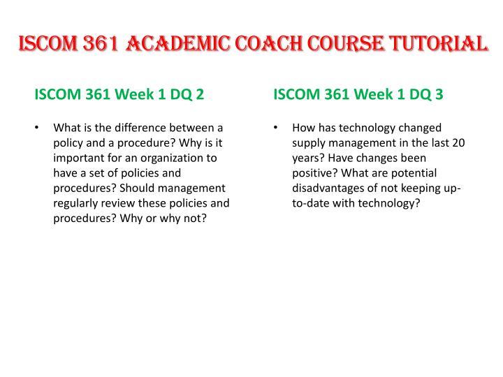 ISCOM 361 Academic