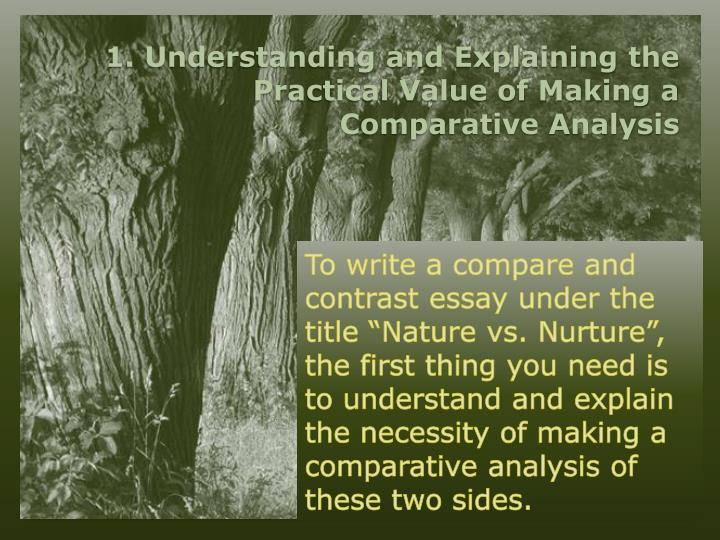 nature vs nurture 4 essay Nature vs nurture is an ongoing debate in human development this sample essay looks at both sides as well as the two working in conjunction with one another.
