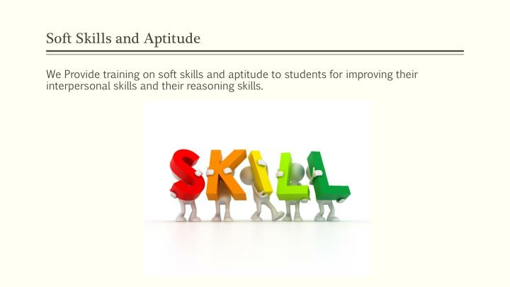 Soft Skills and Aptitude