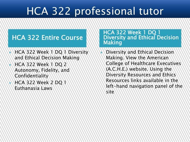 HCA 322 Entire Course