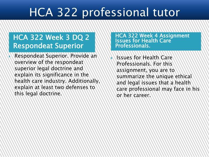 HCA 322 Week 3 DQ 2 Respondeat Superior