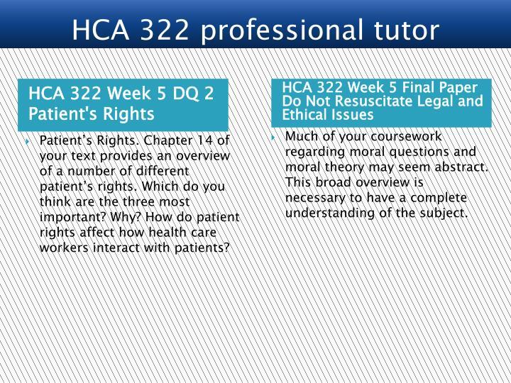 HCA 322 Week 5 DQ 2 Patient's Rights