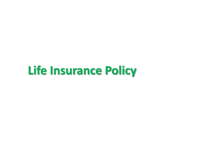 Ppt Top Reasons Why You Should Buy Life Insurance Policy