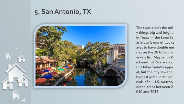 5. San Antonio, TX