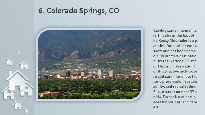 6. Colorado Springs, CO