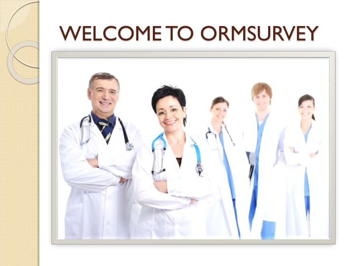 welcome to ormsurvey n.