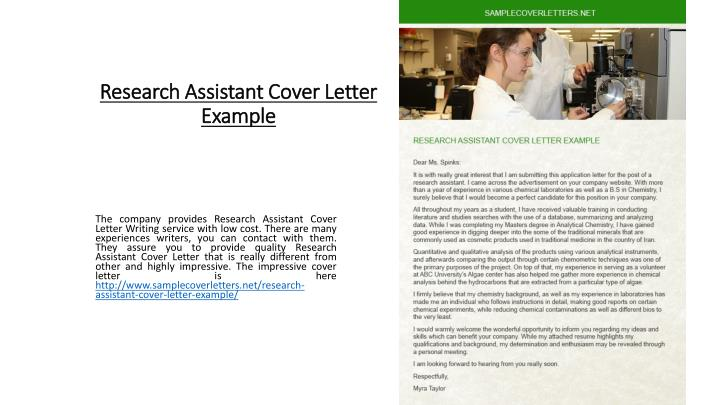 PPT - Research Assistant Cover Letter Example PowerPoint