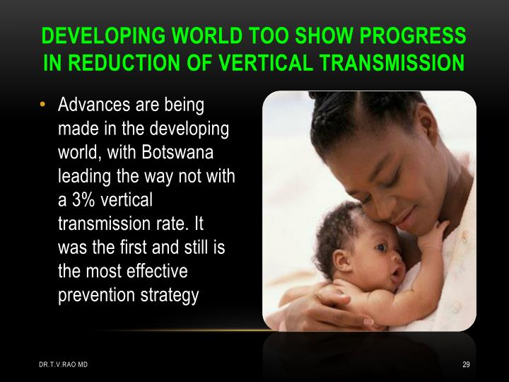 DEVELOPING WORLD TOO SHOW PROGRESS