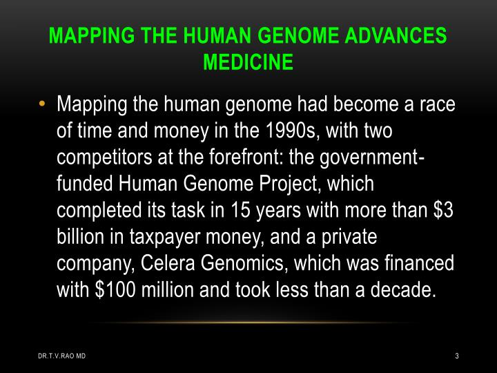 MAPPING THE HUMAN GENOME ADVANCES