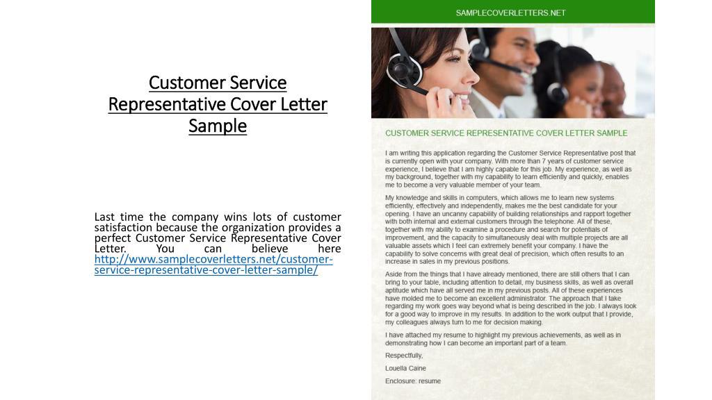 Customer Service Representative Cover Letter Sample from image4.slideserve.com