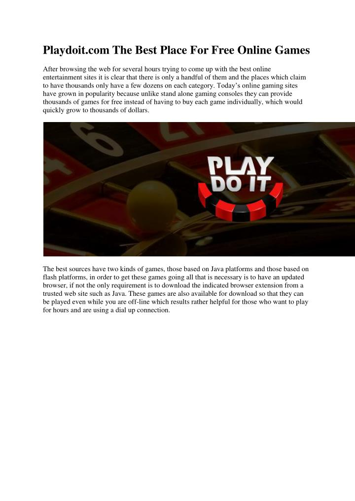 Playdoit.com The Best Place For Free Online Games