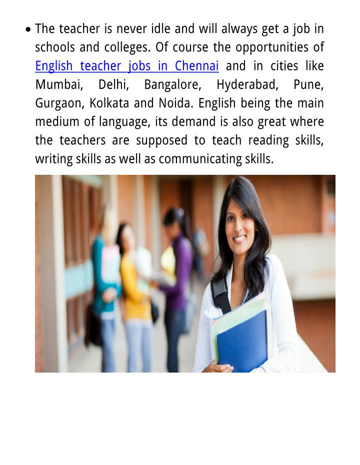 teacher career presentation