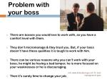 problem with your boss