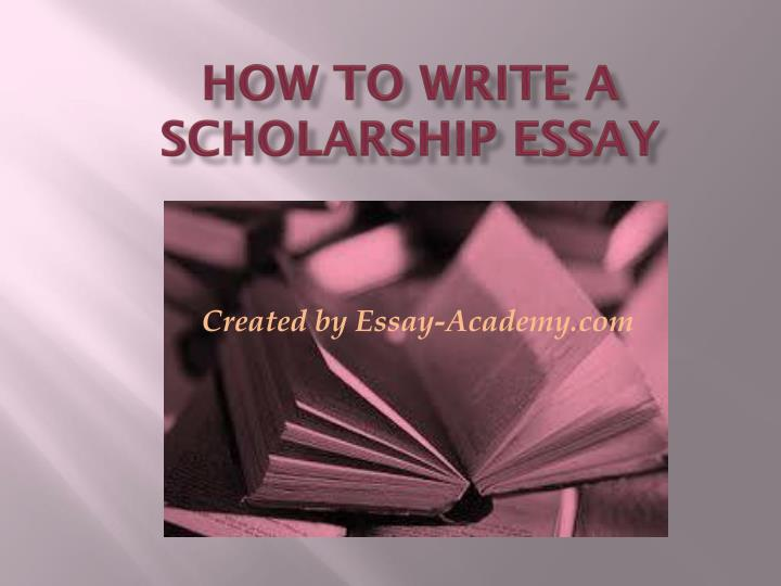 how to write a scholarship essay n.