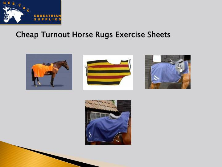 Cheap Turnout Horse Rugs Exercise Sheets