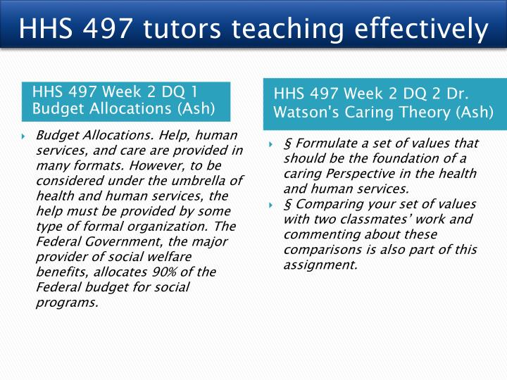 HHS 497 tutors teaching effectively