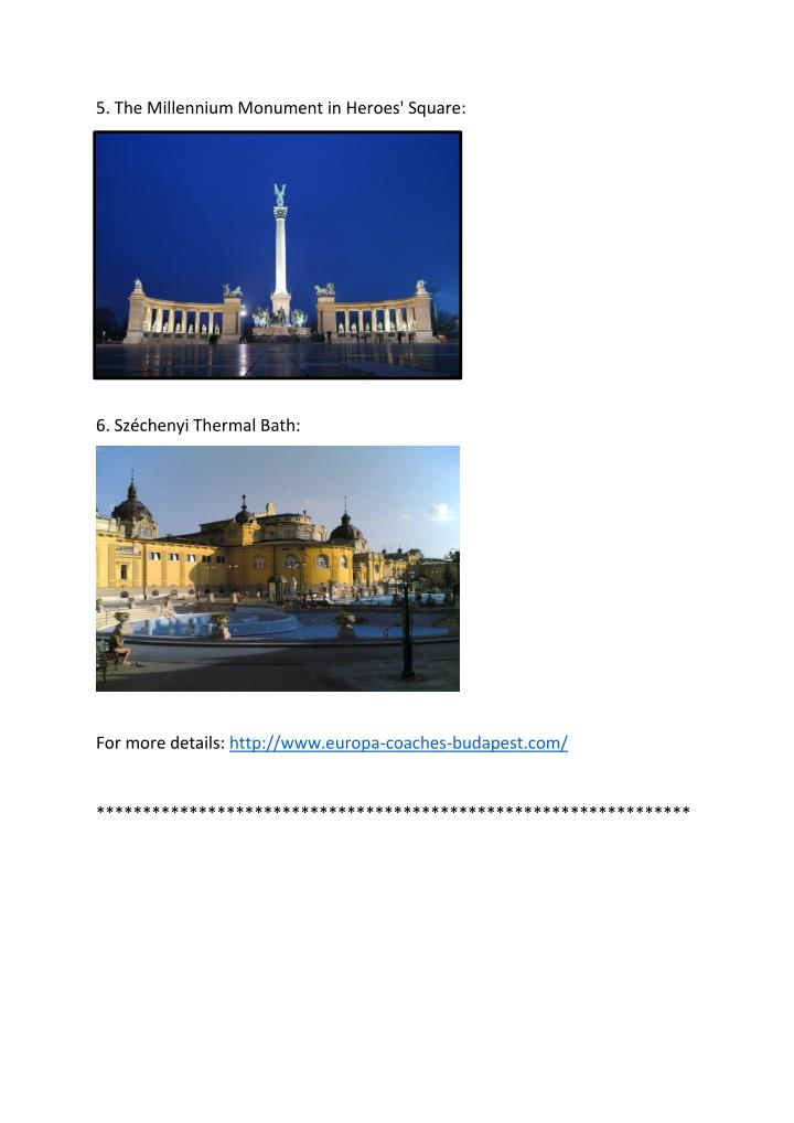 5. The Millennium Monument in Heroes' Square:
