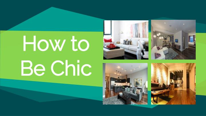 how to be chic n.