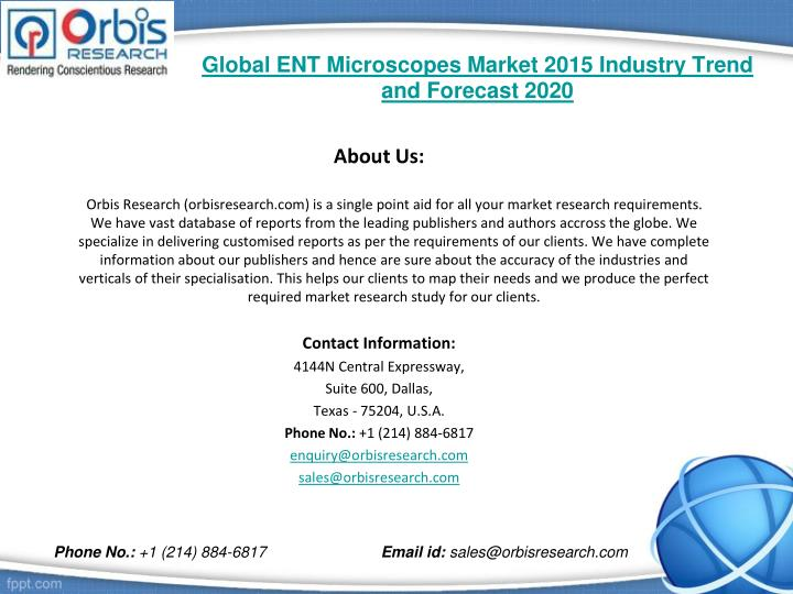 Global ent microscopes market 2015 industry trend and forecast 20202