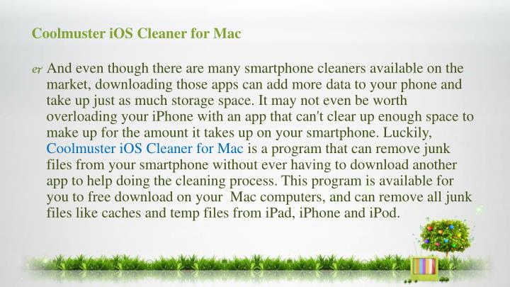 Coolmuster ios cleaner for mac