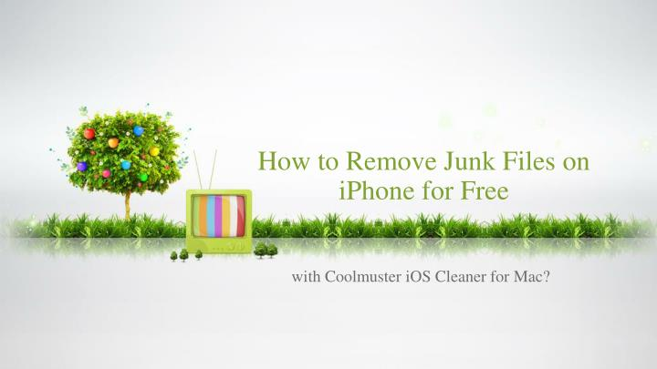 How to remove junk files on iphone for free
