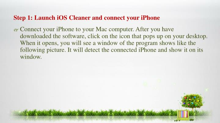 Step 1: Launch iOS Cleaner and connect your iPhone