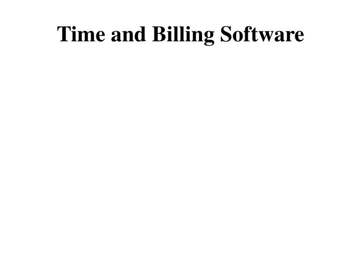 time and billing software n.