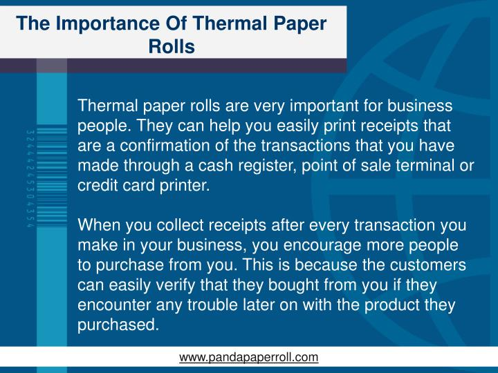 The importance of thermal paper rolls1