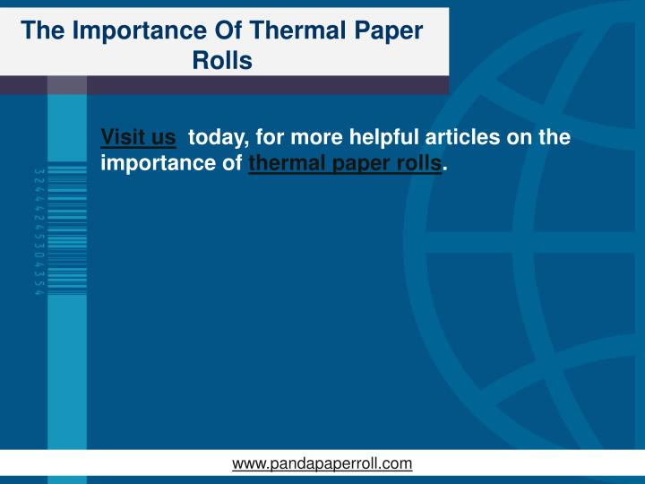 The Importance Of Thermal Paper Rolls