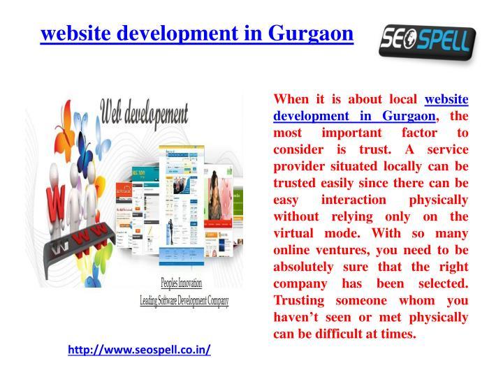 Website development in gurgaon