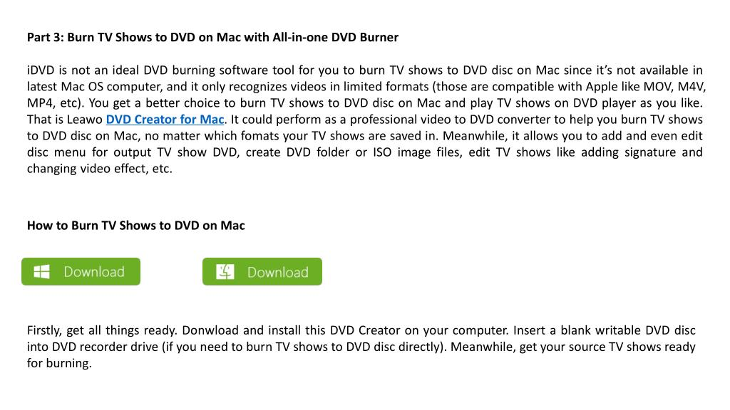 PPT - Burn tv shows to dvd on mac to play tv shows on dvd