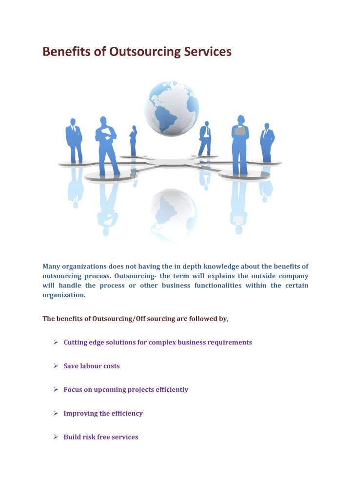 Benefits of Outsourcing Services
