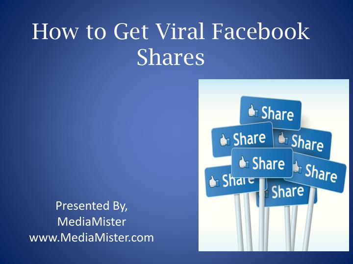 how to get viral facebook shares n.