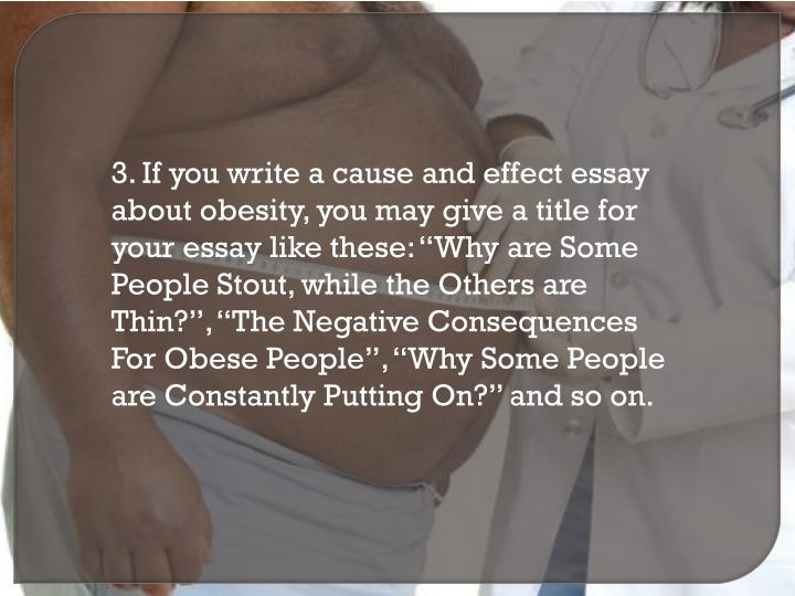 cause and effect essays about obesity