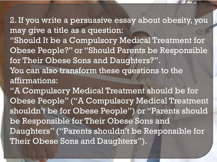 obesity debate essay Obesity controversy obesity and overweight is a major risk factor for many chronic health conditions, including hypertension, diabetes.