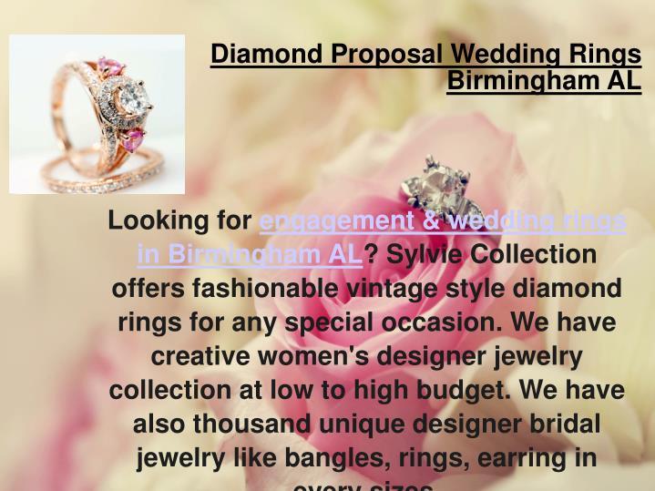 Diamond Proposal Wedding Rings Birmingham AL