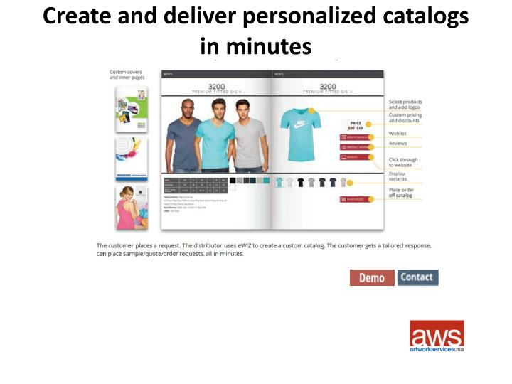 Create and deliver personalized catalogs in minutes