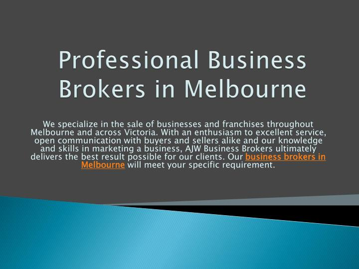 Professional Business Brokers