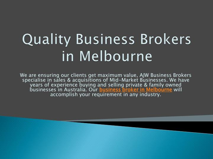 Quality Business Brokers
